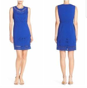 Eliza J Crepe Sheath Cobalt Dress